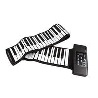Hot HG Electric Roll Piano Portable Folding 88 Key Flexible Soft Silicone Electronic Music Keyboard Piano Usb Speaker Us Plug
