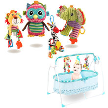 0-36 Months Animal Baby Rattles Toys Stroller Hanging Soft Toy Doll Baby Crib Bed Hanging Bells  Kids Toys Crib Mobile Rattles baby kids rattles toys cotton stroller pram crib hanging soft plush toys animal clip baby crib bed hanging bells toys for babies