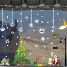 Большие размеры рождественские наклейки на стену модные окна
