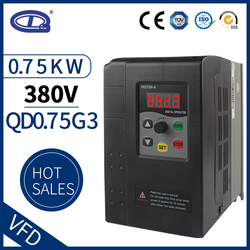 QD350 3 phase 380V 0.75KW Mini VFD Variable Frequency Drive Converter for Motor Speed Control Frequency Inverter