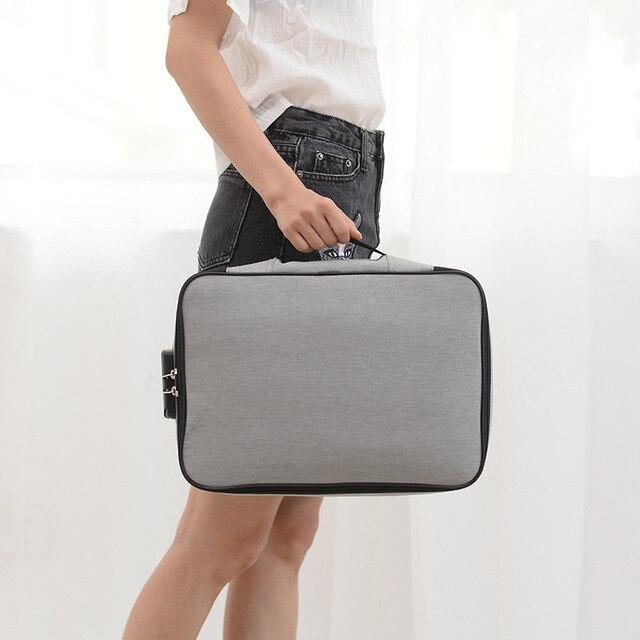 Document Bag Large Capacity Travel Passport Wallet Card Organizer Men's Business Waterproof Storage Pack Home Accessories Item 4