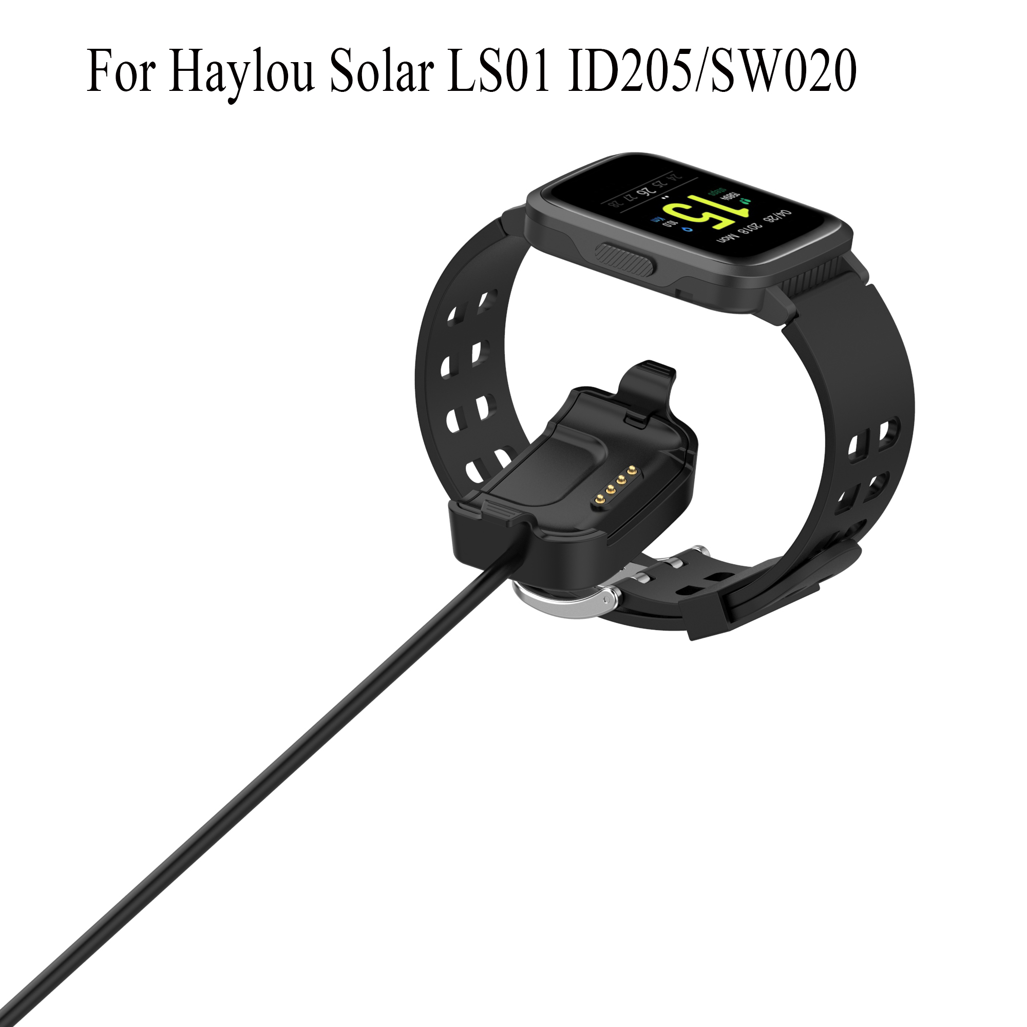 1M USB Cable Charging Data Charger For Haylou Solar LS01 ID205/SW020 Smart Watch Charger Dock Power Adapter Accessories new