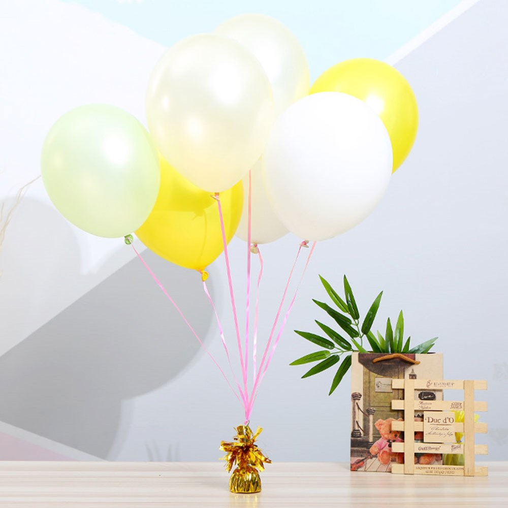 10pcs Decorative Birthday Hanging Balloon Weight Aluminum Foil Gravity Block