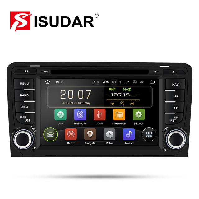 Isudar 2 Din Auto Radio Android 9 For Audi A3 8P/A3 8P1 3 door Hatchback/S3 8P/RS3 Sportback Car Multimedia Video Player GPS DVR