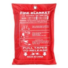 1 м х 1 м герметичное противопожарное одеяло Домашняя безопасность противопожарный тент для пожаротушения лодка аварийная противопожарная защита защитный чехол