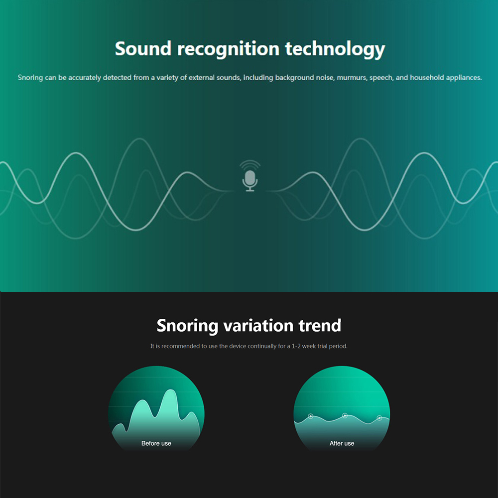 Smart Snurken Stop Biosensor anti snurken Slapen Aid met APP en sleep monitor slaap steun apparaat CPAP vervanger Stop Snurken - 3