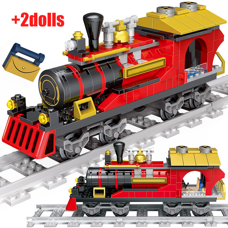 Creator Christmas Train Railway Building Blocks Legoingly City Train Tracks Figures Bricks Educational Toys For Children Gifts