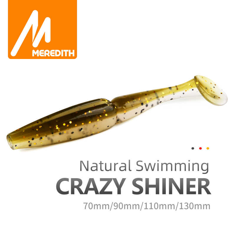 Meredith Crazy Shiner Fishing Lure 70mm 90mm 110mm 130mm miękkie przynęty Fishing Wobbler Bass Bait sztuczne wędkowanie miękka przynęta Tacke