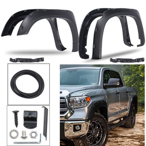 Mudguards 4pcs/Set Rear /Front for Fender Flares For Toyota Tundra 2014-2017 Smooth Surface Style/Striae Style
