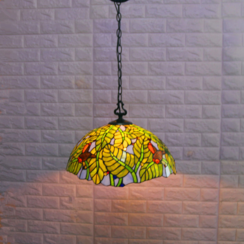 European Porch Balcony Creative Retro Tiffany Stained Glass Living Room Bedroom Bedside Hotel Restaurant Chandelier Industrial