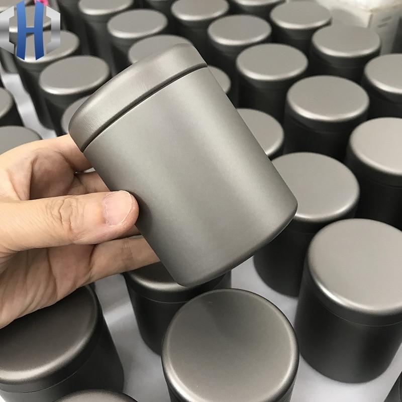 150ml Pure Titanium Tea Can Travel Health Portable Ultra Light Medicine Coffee Food Grade Storage Tank Moisture Storage Box