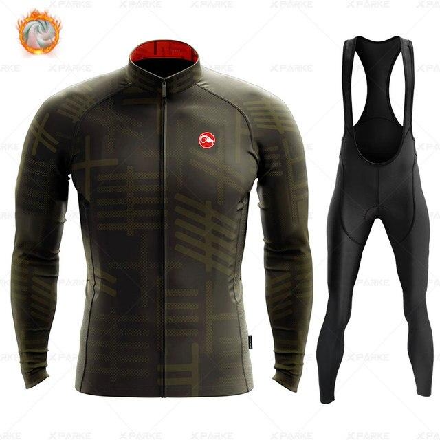 2020 velo de inverno pro conjunto camisa ciclismo mountian bicicleta roupas wear ropa ciclismo corrida roupas ciclismo conjunto 2