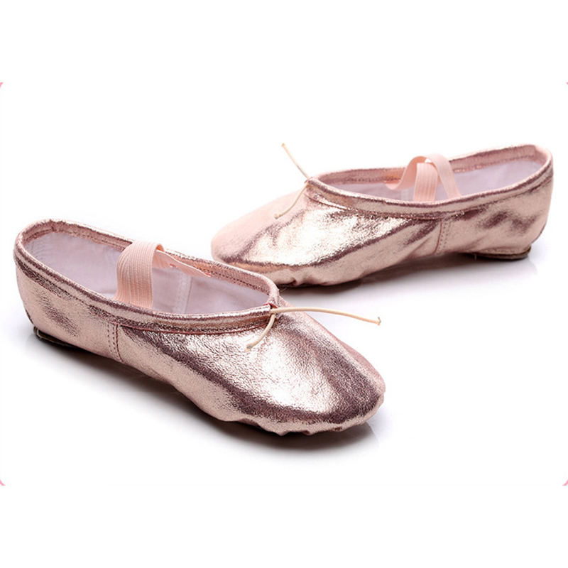 Ballet Shoes Pink Dance Shoes For Girls Ballerina Patent PU Shinny Ballet Slippers Pointe Shoes Ballet Flat Slippers Kids Gym