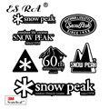 Черная наклейка s, стикеры с логотипом, уличные наклейки 7 шт./компл. фирменные Стикеры для автомобиля, лыжного чемодана, велосипеда, кувшина, ...