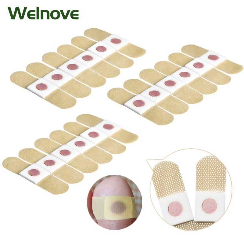 48pcs Foot Corn Removal Medical Plaster Calluses Plantar Warts Thorn Sticker Relieving Pain Patch Toe Protectors Foot Care D2946