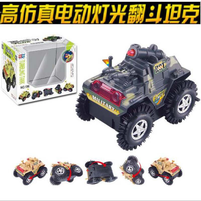 CHILDREN'S Tank Dump Truck Stunt Electric Tank Electric Dump Truck Glowing Toy Car