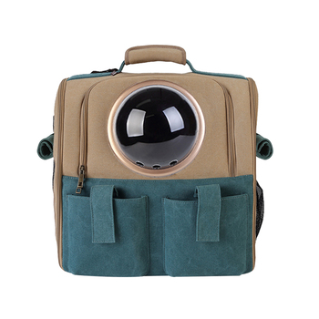 New Travel Cat Backpack Portable Carry Bag Transparent Ball Pet Small Dog Space Capsule Zipper Kitten Puppy Carrier Storage Bag