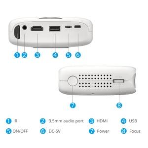Image 5 - Rigal RD606 Miniโปรเจคเตอร์อุปกรณ์เสริมHD WiFi Android 7.1 Pocket Pico LED DLPโปรเจคเตอร์รองรับ 1080P 3Dโทรศัพท์USB Beamer