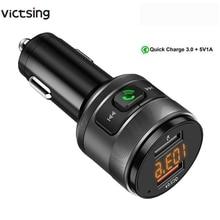 VicTsing FM Bluetooth transmisor coche QC3.0 3.4A receptor transmisor inalámbrico MP3 reproductor de música, Kit de coche, adaptador de Radio manos libres