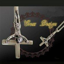 Inverted Cross Unisex Pendant Necklace Gothic Saint Peter Pendant