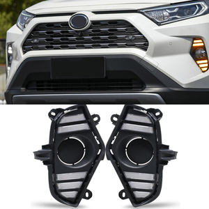 Image 4 - Car Flashing 2Pcs DRL For Toyota RAV4 2019 2020 LED Daytime Running Light Waterproof with flow Yellow Turn Signal Bumper