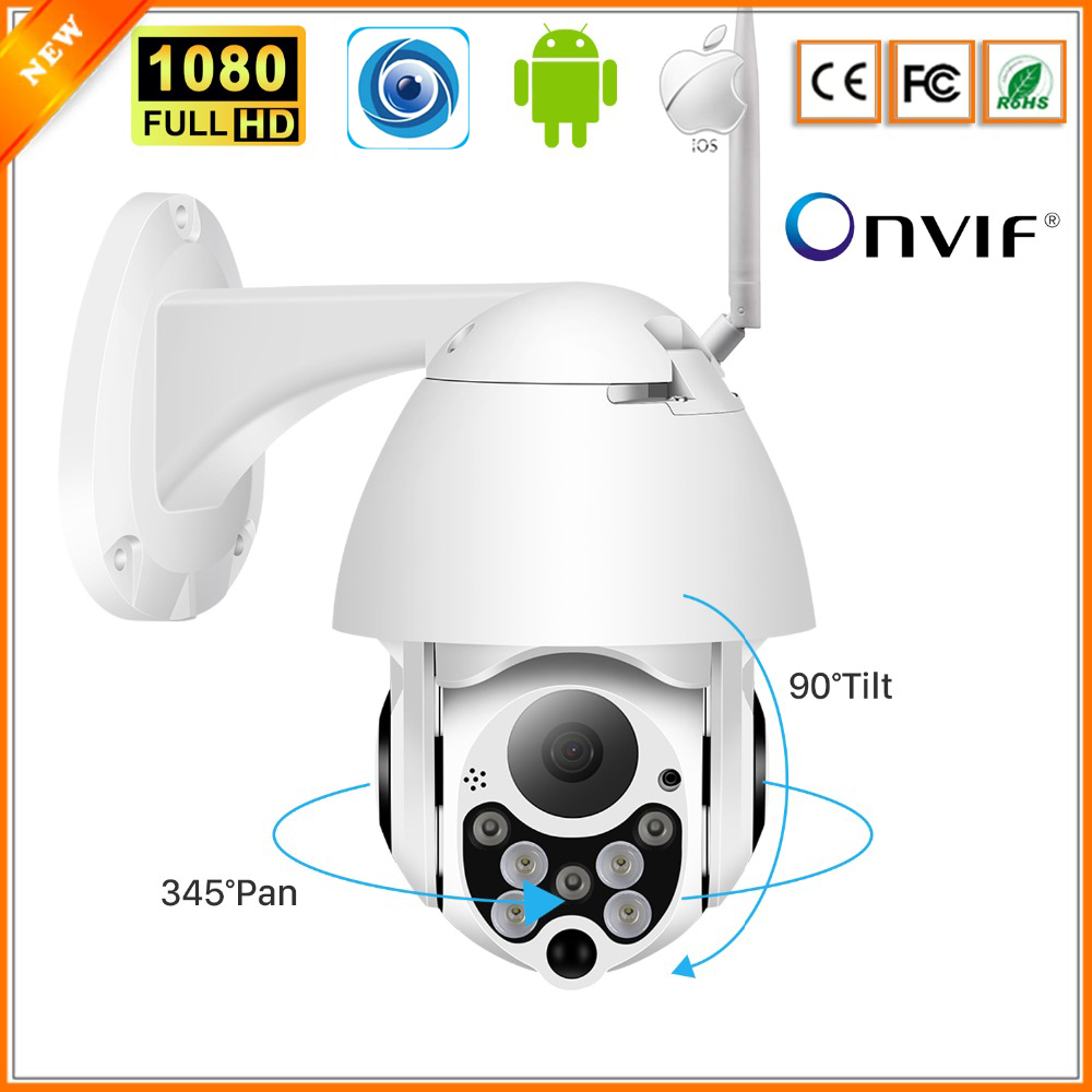 BESDER 1080P PTZ IP Camera Outdoor Speed Dome Wireless Wifi Security Camera Pan Tilt 4X Zoom IR Network CCTV Surveillance ONVIF