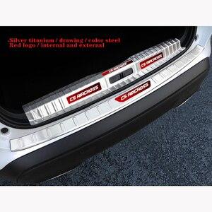 Пороговое украшение для задней панели педалей, светлая полоса для стайлинга автомобиля для Citroen Aircross C5