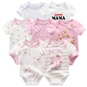 Image 3 - En kaliteli 7 adet/grup bebek erkek kız elbise 2020 moda ropa bebe çocuk giyim yenidoğan tulum genel bebek kız tulum