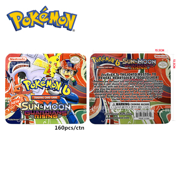 Pokemon Iron Box Card Cover Card 3D Version SUN&MOON ULTRA PRISM Battle Card Collectible Christmas Gift Children Toy фото