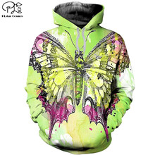 Plstar cosmos 3dprint animal borboleta colorido newfashion unisex homem/mulher harajuku streetwear engraçado hoodies/moletom/zip a12