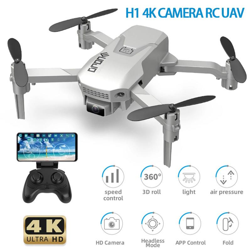 H1 RC Drone 4K Foldable Quadcopter With Function Trajectory Flight Headless Mode 3D Flight Auto Hover One Key Takeoff Landing