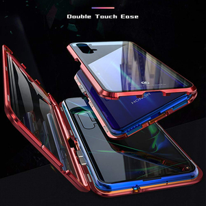 Image 2 - יוקרה מגנטי ספיגת מתכת Flip Huawei Honor 20 20i 20Pro לייט טלפון כיסוי כפול צדדי זכוכית Honor20 פרו אני 2019