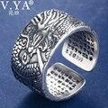 Мужское кольцо с драконом V. YA  винтажное Открытое кольцо из тайского серебра 925 пробы  подарок на день рождения