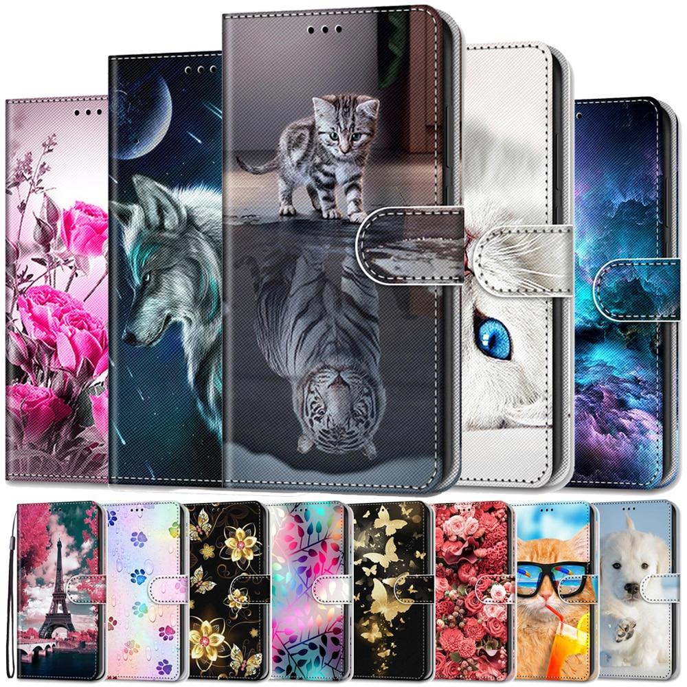 Wallet Case For LG K50S Case Luxury Leather Cover For LG K50S K 50S LGK50S Flip Case Pattern Cartoon Cute Stand Card Slot Holder