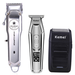 Kemei All Metal Professional Electric Hair Clipper Rechargeable Hair Trimmer Haircut Machine Kit KM-1997 KM-1996 KM-5027 KM-1102
