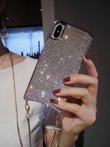 Image 4 - Custodia a tracolla con diamanti scintillanti scintillanti di lusso per iPhone 12 11 PRO XS MAX XR 8 plus Samsung S10 plus con catena lunga