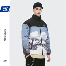 INFLATION Mens Cotton Coat Chinese Style Winter Thick Oversized Cotton Jacket In Graphic Men Bomber Jacket Outwear 2557W