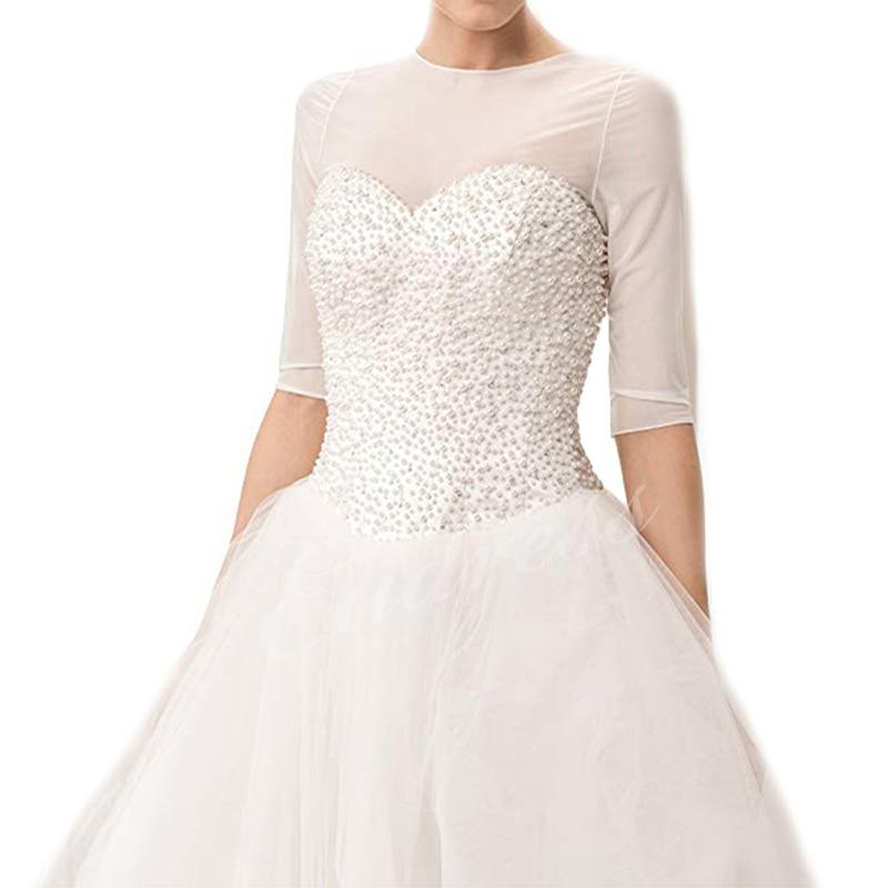 Bridal Tulle Bolero Shrug Dress Women Wedding Bolero Jacket Wrap Illusion Bridal Capes Bride Accessories