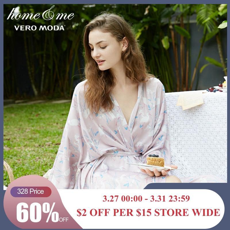Vero Moda  Wrist Sleeves Straight Long Gown Bathrobe For Women | 3181R1504