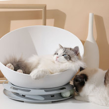 Round Play Cat Bed House Soft Long Plush Pet Dog For Small Dogs Cats Nest Winter Warm Sleeping Puppy Mat 5