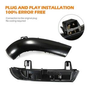 Image 4 - 2 個ダイナミックターン信号 LED バックミラーインジケータウインカーリピータフォルクスワーゲン VW ゴルフ 5 ジェッタ MK5 パサート b5.5 B6