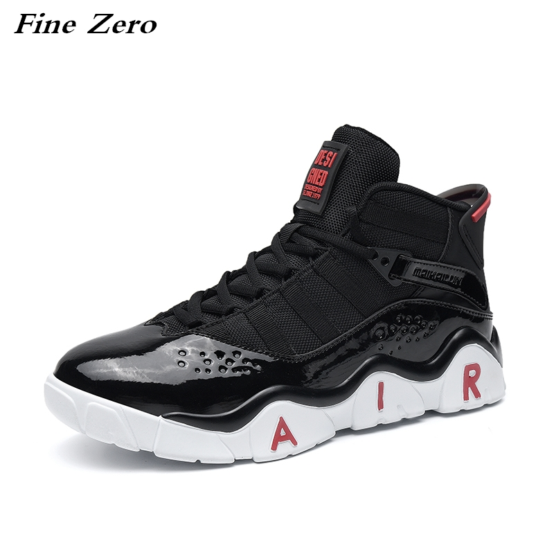 New Brand Basketball Shoes Men Women High top Sports Cushioning Hombre Athletic Mens Jordan Shoes Comfortable Black Sneakers|Basketball Shoes| |  - title=