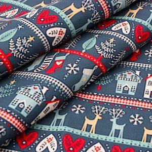 Ткань IBOWS из полиэстера и хлопка для празднования Рождества, тканевая ткань с принтом, рукоделие, одежда «сделай сам», материал 45*145 см/шт.