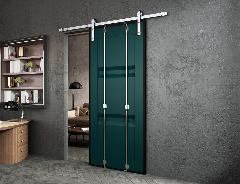 DIYHD Dacromet Raw Material Sliding Barn Door Hardware,Metal Roller,Fit Exterior Heavy Duty Barn Door