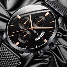 2020 Fashion Mens Watches Luxury Stainless Steel Calendar Date Quartz W