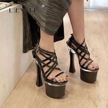 Lsewilly роскошные женские сандалии гладиаторы из лакированной