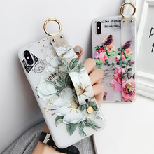 Polsband Telefoon Houder Siliconen Case Op Voor Samsung Galaxy M30S A10 A20 A30 A30S A40 A50 A70 Note10 Lite stand Soft Cover