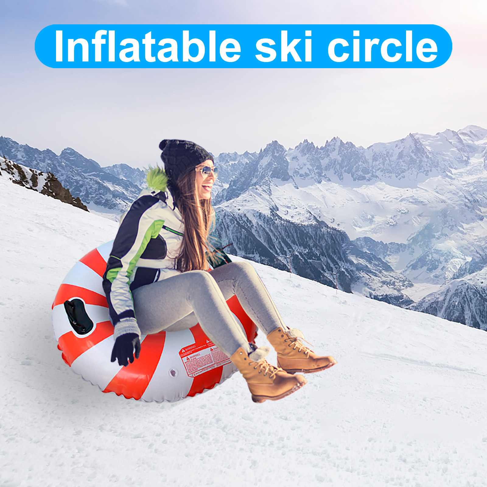 The Winter Heavy Snow Tube Provides Inflatable Sleds For Children And Adults Skiing Thickened Floated Sled Snow Toy