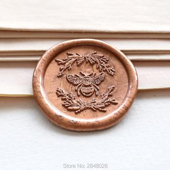 Królowe pszczół i trzmieli pieczęć pieczęć roślin pieczęć pieczęć pszczoła pieczęć woskowa zestaw szkielet uszczelki pakowanie prezentów miód pszczeli etykieta party tanie i dobre opinie qubiclife Standard Stamp Metal Wedding