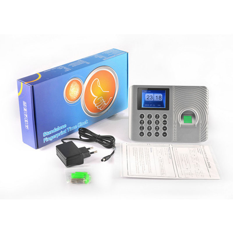 1000 Users DC5V Office Biometric Fingerprint Time Attendance Machine Code U Disk Excel Export TCP/IP Empolyee Recognition